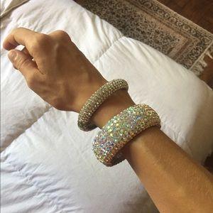 AB & clear Swarvarski crystal bracelets
